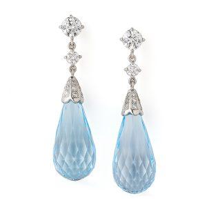 Aquamarine-and-diamond-earrings
