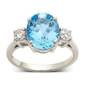 Aquamarine-and-diamond-three-stone