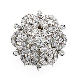 Diamond-floral-cluster