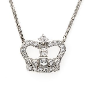 Diamond-set-crown-pendant