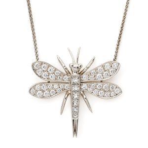 Diamond-set-dragonfly-pendant