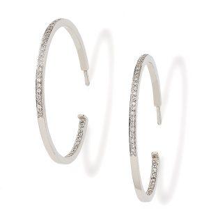 Diamonds-set-hoop-earrings