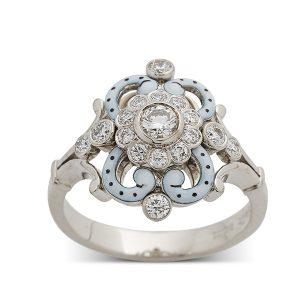 Enamel-and-diamonds