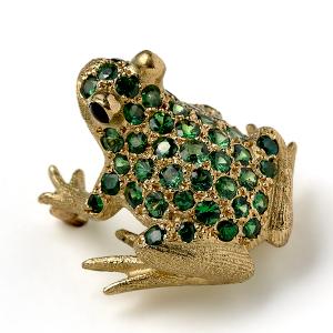 Frog-with-Tsavorite-Garnets