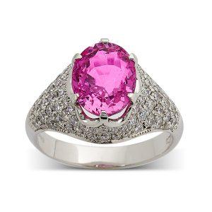 Pink-sapphire-with-pave-set-diamond-surround