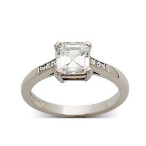 Princess-cut-diamond-ring-with-diamonds-to-band