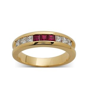 Ruby-and-diamond-channel-set-band