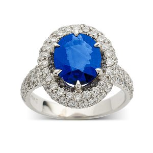 Sapphire-and-diamond-cluster-with-diamond-set-band