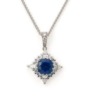 Sapphire-and-diamond-pendant