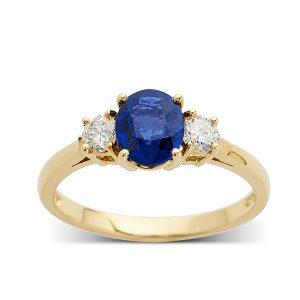 Sapphire-and-diamond-three-stone