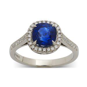 Sapphire-cushion-with-diamond-surround