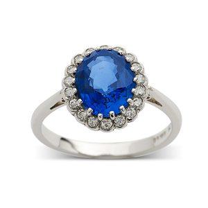 Sapphire-with-diamond-surround