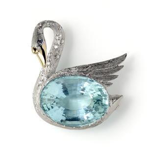 Swan-with-Aquamarine-and-Diamonds-to-neck