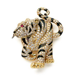 Tiger-enamelled-and-with-diamonds